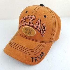 UT TEXAS LONGHORNS Orange Adjustable Ball Cap